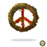 Oil painted peace symbol Royalty Free Stock Photos