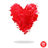 Oil painted red heart Royalty Free Stock Image