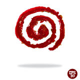 Oil painted spiral icon Stock Photo