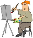Oil Painter Stock Image