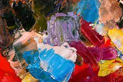 Oil painting abstract brushstrokes Royalty Free Stock Photography