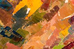 Oil painting abstract brushstrokes Royalty Free Stock Photo
