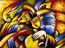Oil Painting - Abstract Face Stock Image