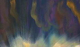 Oil painting. Abstract stained background. Night skies and clouds. Rough texture of brush strokes Stock Illustration