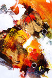 Oil Painting - Abstraction stock photo