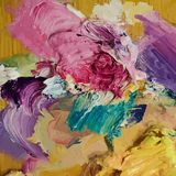 Oil painting  background. Brush strokes on the palette. Hand dra. Wn illustration Stock Photography
