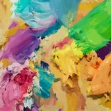 Oil painting  background. Brush strokes on the palette. Hand dra. Wn illustration Stock Images