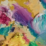 Oil painting  background. Brush strokes on the palette. Hand dra. Wn illustration Stock Photos
