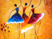 Oil Painting - Ballet Dancing Royalty Free Stock Photo