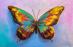 Abstract painting butterfly royalty free stock images