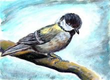 Oil painting bird Royalty Free Stock Images