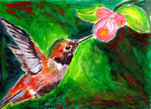 Oil painting bird Royalty Free Stock Image
