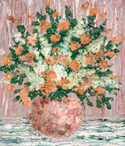 Oil painting. Bouquet of fresh flowers Stock Photo