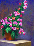 Oil-Painting - Canterbury bells Stock Photography