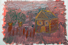 Oil Painting On Canvas. Οil painting on the canvas. Handmade. Texture. Farmhouse royalty free stock photos