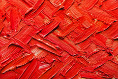 Oil Painting On Canvas. Abstract paintings of red colors embossed decoration royalty free stock image