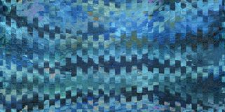 Abstract background with a pattern of squares and waves. Oil painting on canvas and digital technology. Abstract background with a pattern of squares and waves stock illustration