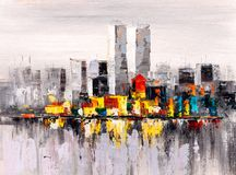 Free Oil Painting - City View Of New York Royalty Free Stock Image - 99300586