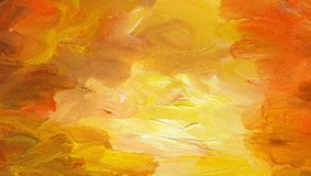 Clean red - yellow background with rough texture. Oil painting. Clean red - yellow background with rough texture of brush strokes. Sunset sky Royalty Free Illustration
