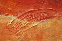 Oil Painting close up texture with brush strokes Stock Images