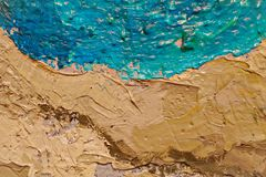 Oil Painting close up texture with brush strokes Royalty Free Stock Images