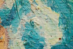 Oil Painting close up texture with brush strokes Royalty Free Stock Photo