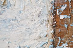Oil Painting close up texture with brush strokes Royalty Free Stock Photography