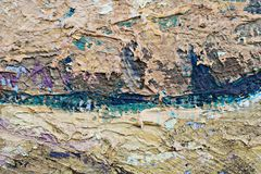 Oil Painting close up texture with brush strokes Royalty Free Stock Image