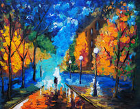 Oil Painting - Dating Tonight Royalty Free Stock Images