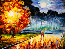 Oil Painting - Dating Tonight. Oil Painting about Dating Tonight Stock Photos