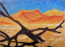 Oil painting,desert. Stock Image