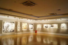Oil painting exhibition Stock Image