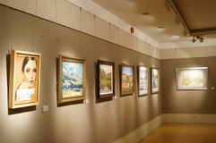 Oil painting exhibition Stock Images