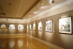 Oil painting exhibition Stock Photo