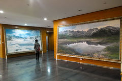 Oil painting exhibition Royalty Free Stock Image