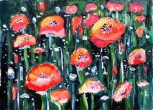 Oil painting flower Stock Photo
