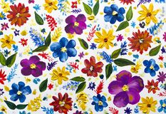 Oil painting Flowers Background stock images