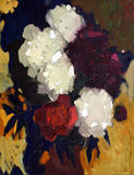 Oil painting of flowers. Royalty Free Stock Photos