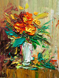 Oil painting flowers Stock Photography