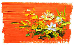 Oil painting flowers Royalty Free Stock Photos