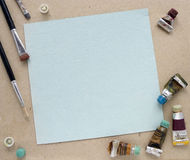Oil painting frame Stock Image