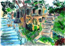 Oil painting gulangyu xiamen Stock Images