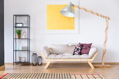 Free Oil Painting Hanging Over Couch Stock Image - 103916891
