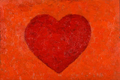 Oil Painting of HEart Royalty Free Stock Image