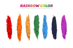 Oil painting  illustration, rainbow acrylic paint background and design source Stock Photos