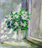 Oil Painting, Impressionism style, texture painting, flower stil Stock Photos