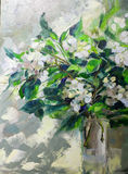 Oil Painting, Impressionism style, texture painting, flower stil Stock Images