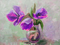 Oil Painting, Impressionism style, texture painting, flower stil Royalty Free Stock Images