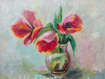 Oil Painting, Impressionism style, texture painting, flower stil Royalty Free Stock Photography