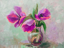 Oil Painting, Impressionism style, texture painting, flower stil Stock Photography